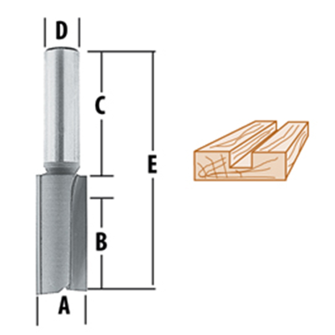 Straight - 2 Flute Router Bits
