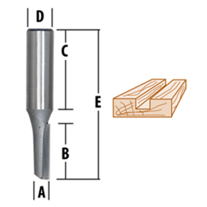 Straight-Single Flute Router Bits