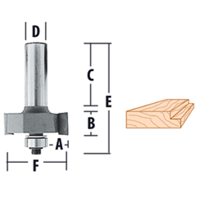 Rabbeting Router Bits
