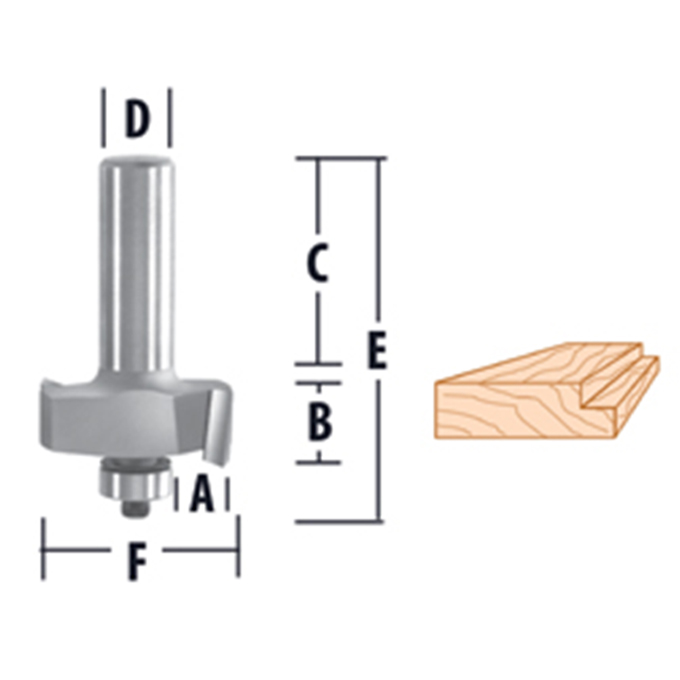 Rabbeting - 2 Flute Router Bits