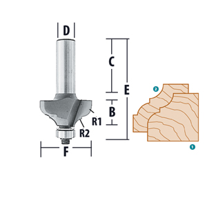 Cove and Bead Router Bits