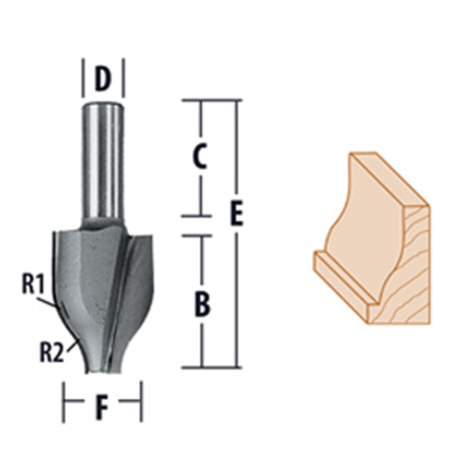 Vertical Raised Panel Ogee Router Bits