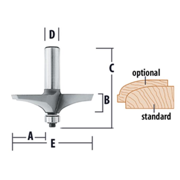 Handrail & Table Edge Bits