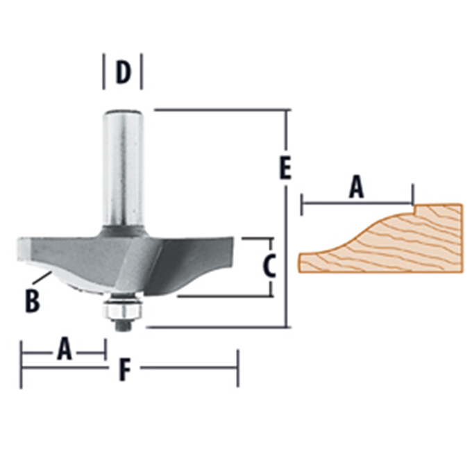 Raised Panel - 2 Flute Ogee Router Bit