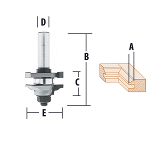 Reversible Stile & Rail Assembly Ogee Router Bits