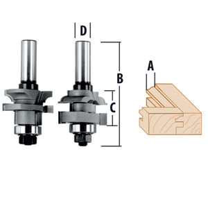 Stile & Rail 2 Piece Ogee Router Bits