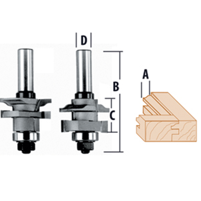 Stile & Rail 2 Piece Bead Router Bits