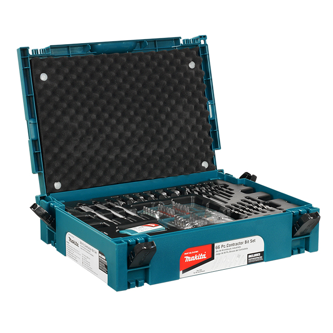 66 Pc Drill & Driver Bit Interlocking Accessory Kit