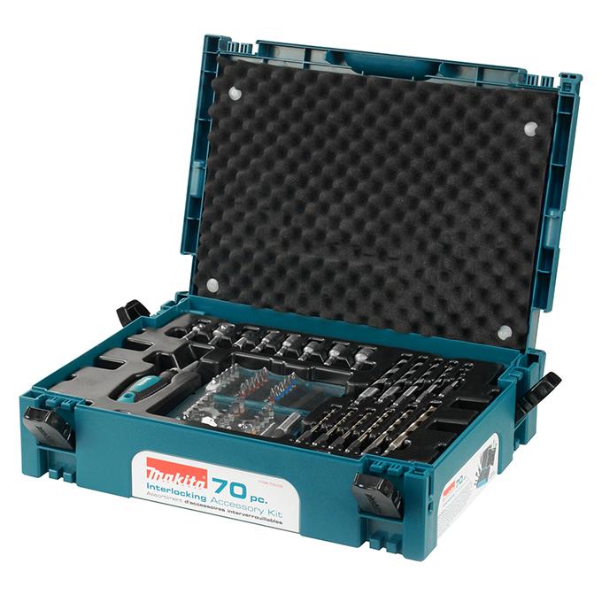70 Pc Drill & Driver Bit Interlocking Accessory Kit