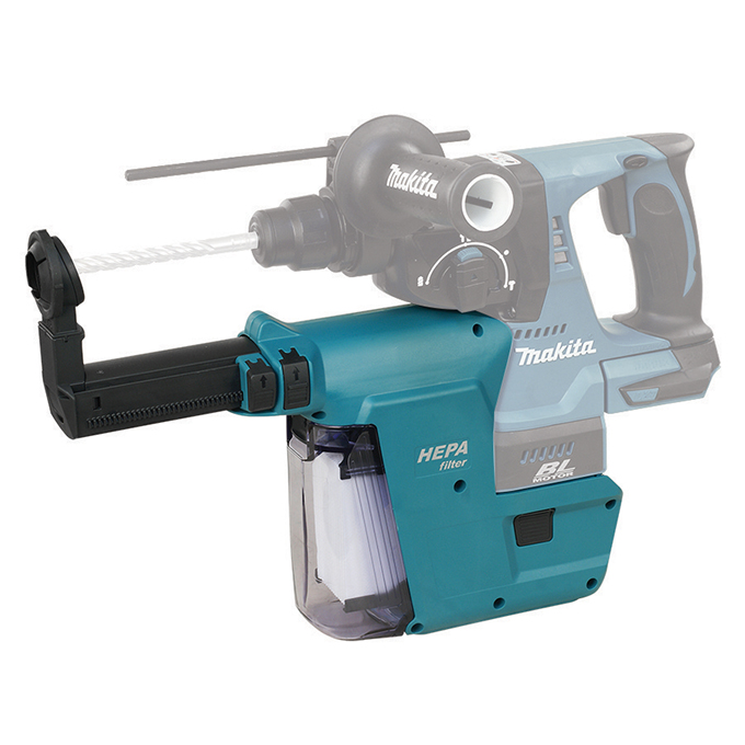 Cordless Rotary Hammer HEPA Dust Extraction System