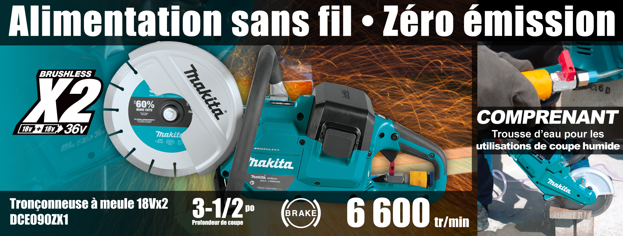 Cordless Power Cutter with Brushless Motor