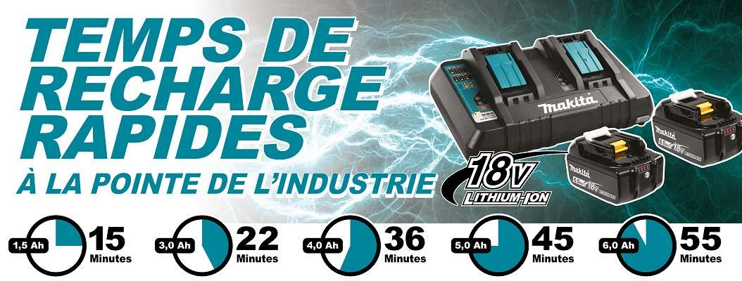 Makita Chargers Charge Times